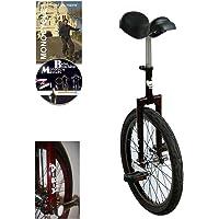 Monocycle Dodo 20 pouces (50cm) ROUGE pour les enfants à partir de 11 ans + DVD offert