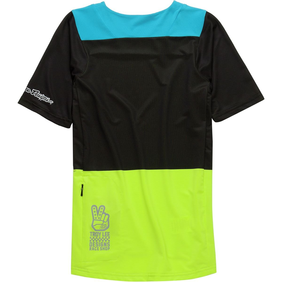 Boys Checker Black//Lime S Troy Lee Designs Skyline Jersey