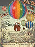 Hot Air Balloon, Authentic Models - Travels Light Hot Air Balloon Home Decor, Color - Yellow