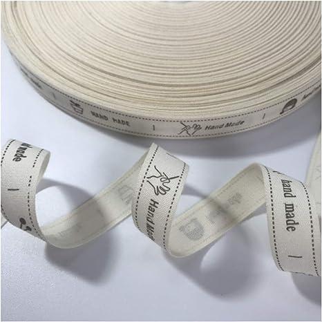 Cinta de algodón de 15 mm hecha a mano para decoración de bodas y ...