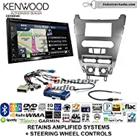 Volunteer Audio Kenwood Excelon DNX694S Double Din Radio Install Kit with GPS Navigation System Android Auto Apple CarPlay Fits 2008-2011 Focus (SWC)
