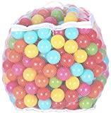 Toys : BalanceFrom 2.3-Inch Phthalate Free BPA Free Non-Toxic Crush Proof Play Balls Pit Balls- 6 Bright Colors in Reusable and Durable Storage Mesh Bag with Zipper