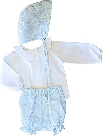 Conjunto de Ropa de Pascua para niñas y bebés, Camisa Blanca con Volantes - Azul - 6 Meses: Amazon.es: Ropa y accesorios