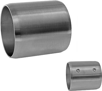 Modell:KA20 Endkappe halbrund Edelstahl Gel/änder Handlauf Wand Tr/äger Haltegriff /Ø42,4 x 2 mm Einzelteile V2A