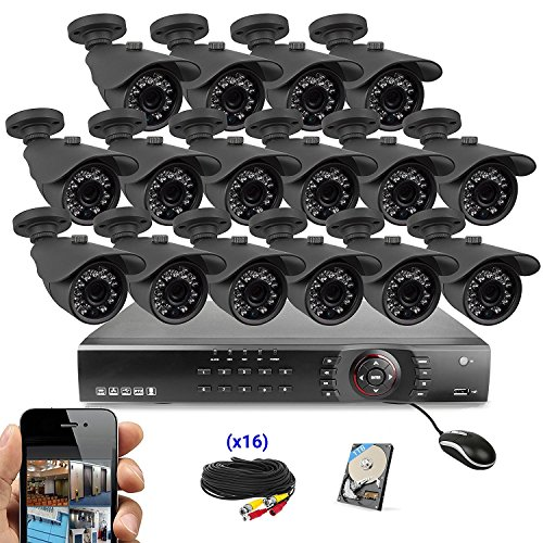 Dvr Kit (Best Vision 16CH 4-in-1 HD DVR Security Camera System (1TB HDD), 16pcs 1080P-Lite High Definition Outdoor Cameras with Night Vision - DIY Kit, App for Smartphone Remote Monitoring)