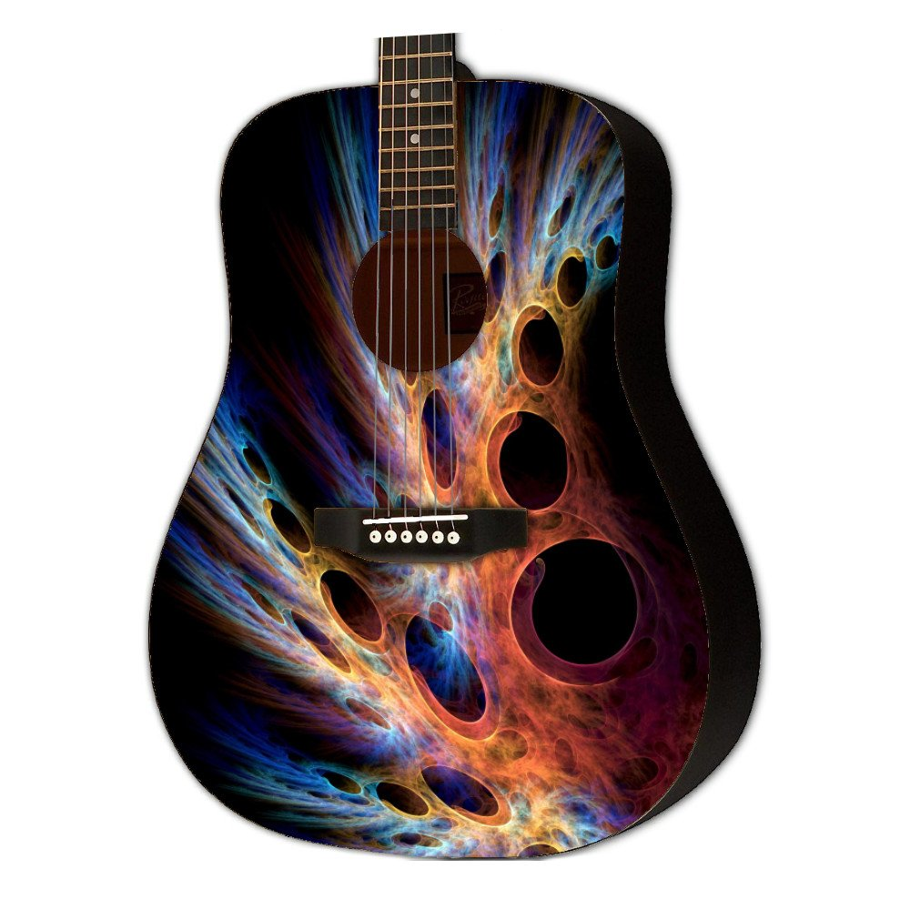 Graphic Acoustic Guitar ABSTRACT TWO LIFEFORM Design