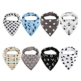 Amazon Price History for:Vicsou Baby Bandana Drool Bibs for Drooling and Teething, Soft Organic Absorbent Cotton, 8-Pack