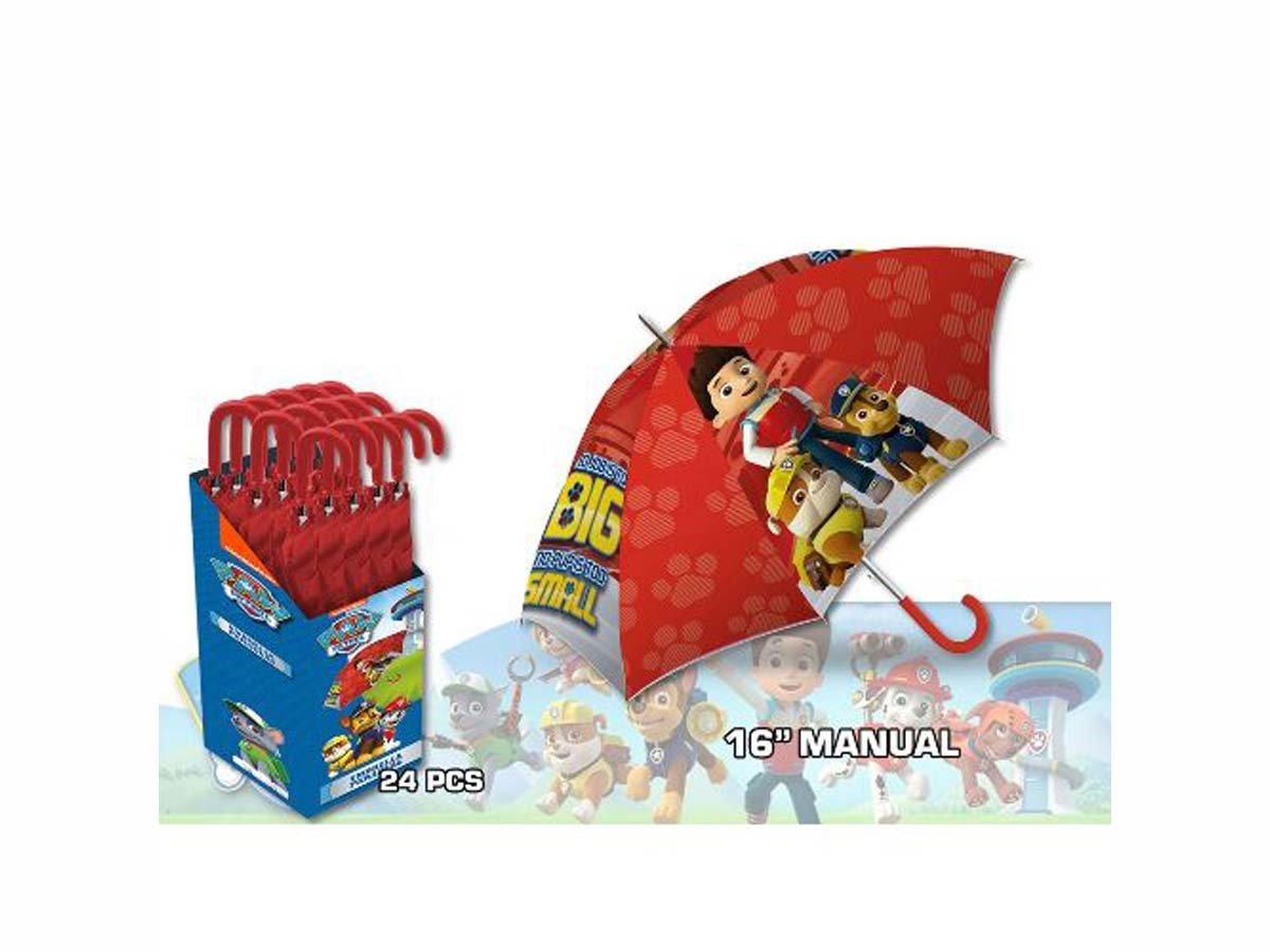 Kids Paw Patrol Paraguas Clásico, 57 cm, Rojo: Amazon.es: Equipaje