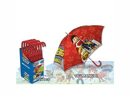 Kids Paw Patrol Paraguas Clásico, 57 cm, Rojo