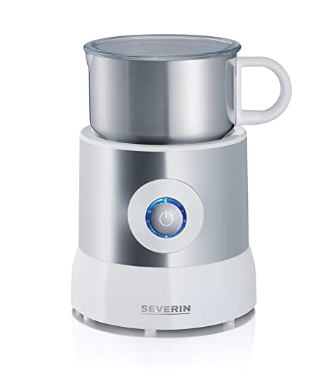 Severin SM 9684 Leche, Calentador (hasta 500 ml), Emulsionador (hasta 260 ml), Inducción, 500 W, 0.5 litros, Acero Inoxidable, Plateado/Blanco