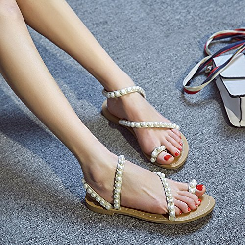 eight Forty sandali piedi derma KPHY sandali le giallo dei trentaquattro dita sandali moda alla i dei stringere Zaxvwnd5qv