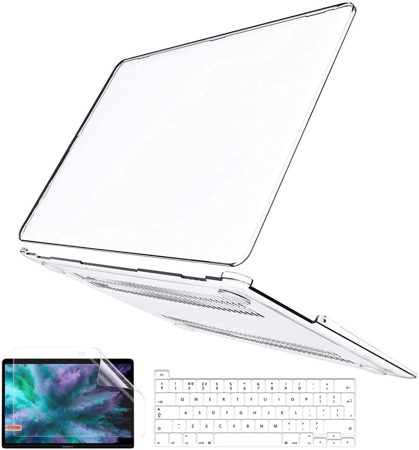 B BELK MacBook Pro 16 Inch Case 2019 Release A2141, 3 in 1 Ultra Slim Crystal Clear Plastic Hard Shell Cover Case with Keyboard Cover & Screen Protector for MacBook Pro 16 with Touch Bar and Touch ID