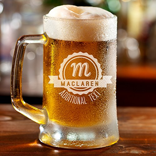 Personalized Etched 16oz Glass Beer - Glasses Customize