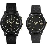 [ラコステ]LACOSTE 収納BOX付 ペアウォッチ 2本セット ペアルック L.12.12 ゴールド×ブラック ラバー 20110122001064 腕時計 [並行輸入品]