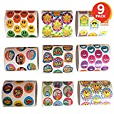 ArtCreativity Teacher Reward Stickers for Kids | 9 Rolls with Over 600 Stickers | Bulk Positive Reinforcement Student Rewards | Classroom Prize | Elementary, Kindergarten, Preschool School Supplies