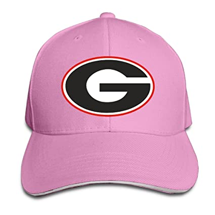 ACMIRAN University Of Georgia UGA Personalize Sandwich Peaked Cap One Size  Pink 38e181d03be