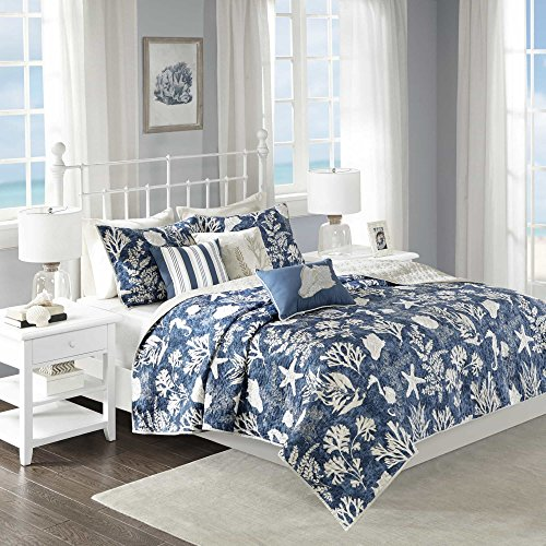 Underwater Sea Creatures 6 Piece Theme Coverlet Duvet