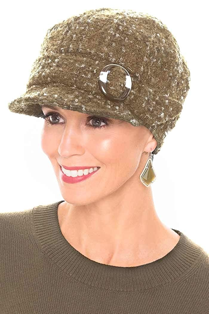 ce834414a35 Headcovers Unlimited Raelynn Newsboy Hat - Winter Hats for Women - Cancer  Patients