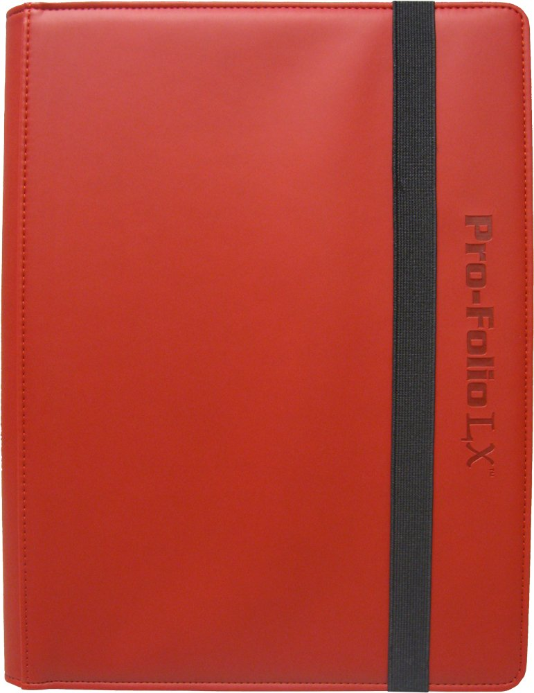 (6) Red Trading Card Binders - BCW Brand - 9-Pocket Pro-Folio - LX - #BCW-PF9LX-RED