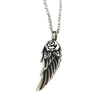 Wing of angel cremation urn necklace jewelry initial memorial wing of angel cremation urn necklace jewelry initial memorial pendant ashes holder keepsake with fill kit aloadofball Gallery