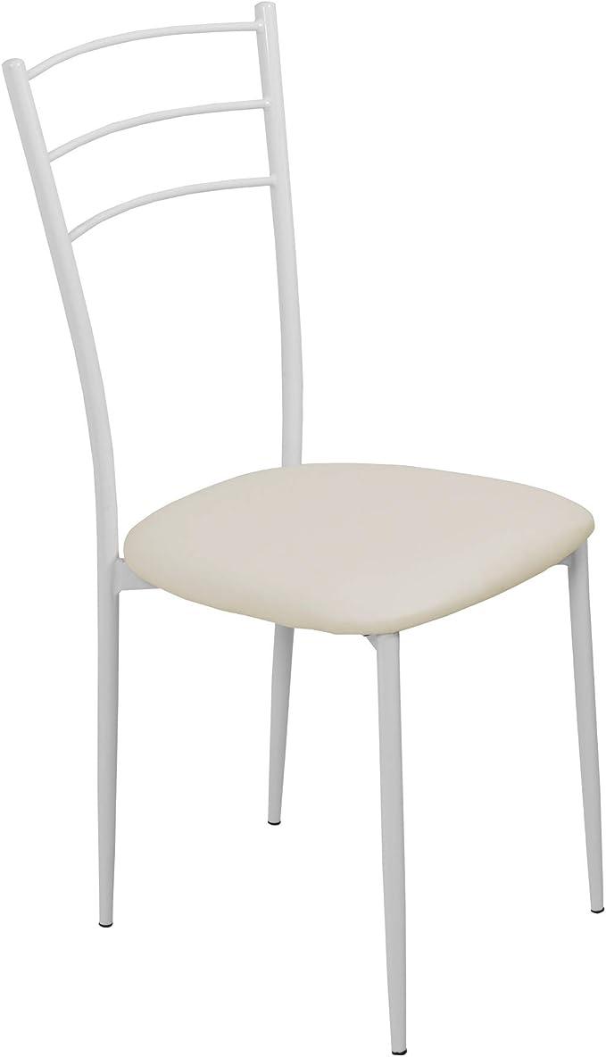 Cribel Set da 6 sedie Modello Nelly, Bianco, Struttura in