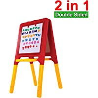 GoodLuck Baybee 2 in 1 Easel Board for Kids | Double Side Kids Painting Board Black,White Board Chalk Board |Letters Drawing Board for 2-12 Years Boys and Girls Kids