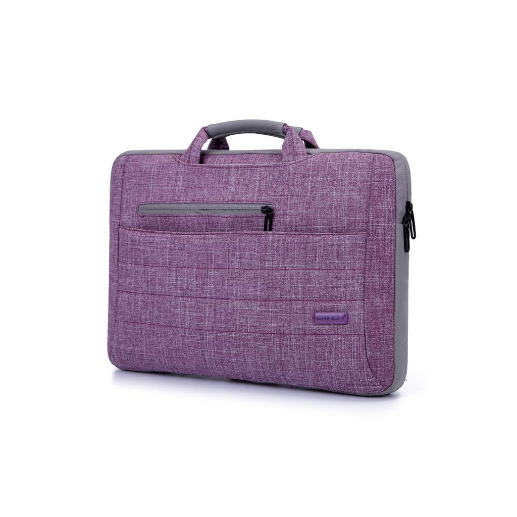 QSJY File Cabinets 15 Inch Handbag with Shoulder Slanting Gamebook Computer Package 38(W)×29(H)×7(T) cm (Color : Purple, Size : 41(W)×28(H)×7(T) cm) by QSJY File Cabinets