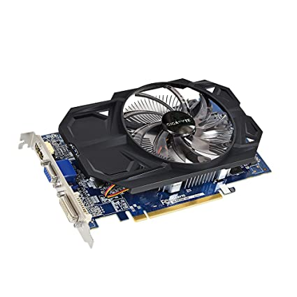 Gigabyte AMD Radeon R7 250 2GB DDR3 Graphics Card(GV-R725OC-2GI/ PCI-E 3 0  /128 bit / D-SUB / Dual-Link DVI-D / HDMI / OC / Single fan)