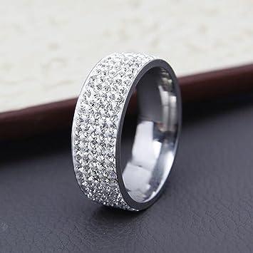 Amazon.com: Pareja unisex hombre/mujer anillo de banda de ...