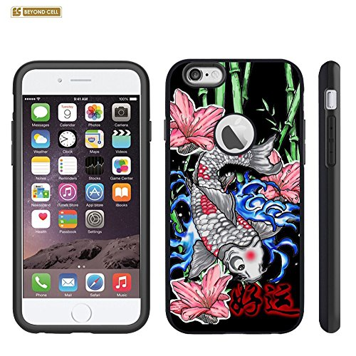 Spots8® Heavy Duty Slim Fit Case for iPhone 6S PLUS & iPhone 6 PLUS [Koi Fish Bamboo]