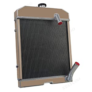 CoolingSky 3 Row All Aluminum Tractor Radiator for Ford丨New Holland 501 600 601 641 700 701 800 801 841 861 901 2000 4000