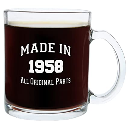 60th Birthday Gifts For Men Or Women Made 1958 Party Supplies Gift Glass Coffee