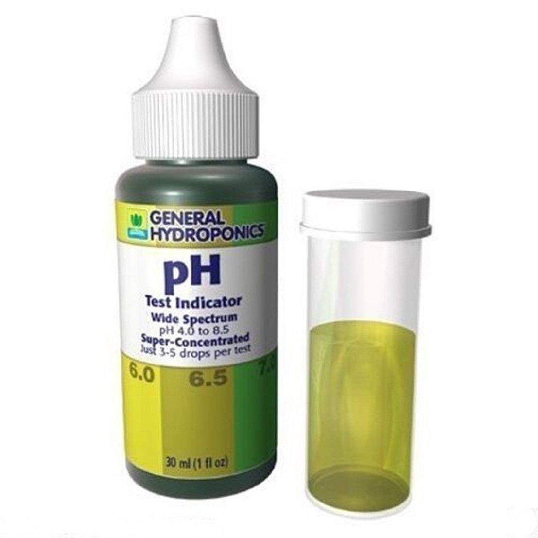 1 Set Super Popular General Hydroponics pH Test Kit Up and Down Control Indicator Tester Wide Spectrum Volume 30ml