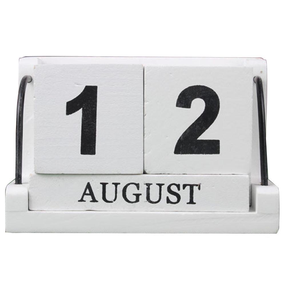 Home daily-use manuale combinazione di legno piccolo calendario da tavolo desktop decorazione ornamento Futurepast