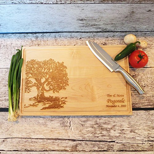 Large Cutting Board - Wedding Gift - Anniversary Gift - Housewarming (17 x 11)