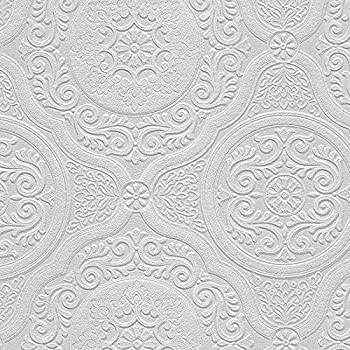 RD0648 Anaglypta Wallcovering Supaglypta Howard Paintable Textured Wallpaper