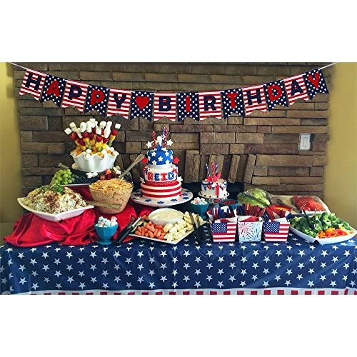 85OFF Stars And Stripes Happy Birthday Banner National Flag Style For 4th