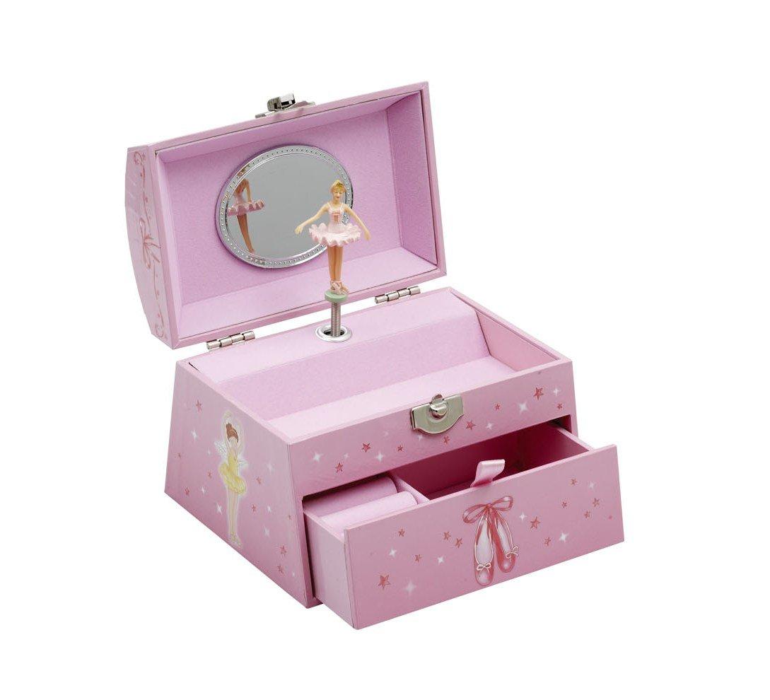 Girls Pink Ballet Dance Large Music Jewellery Box Chest Christmas Birthday Present By Katz Dancewear JB25