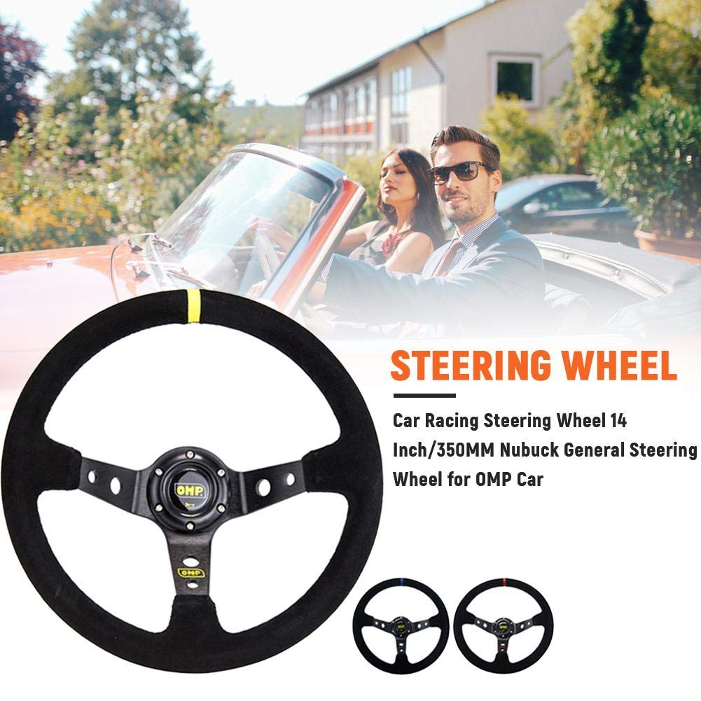 14 Inch//350MM Cars Steering Wheel for OMP Cars