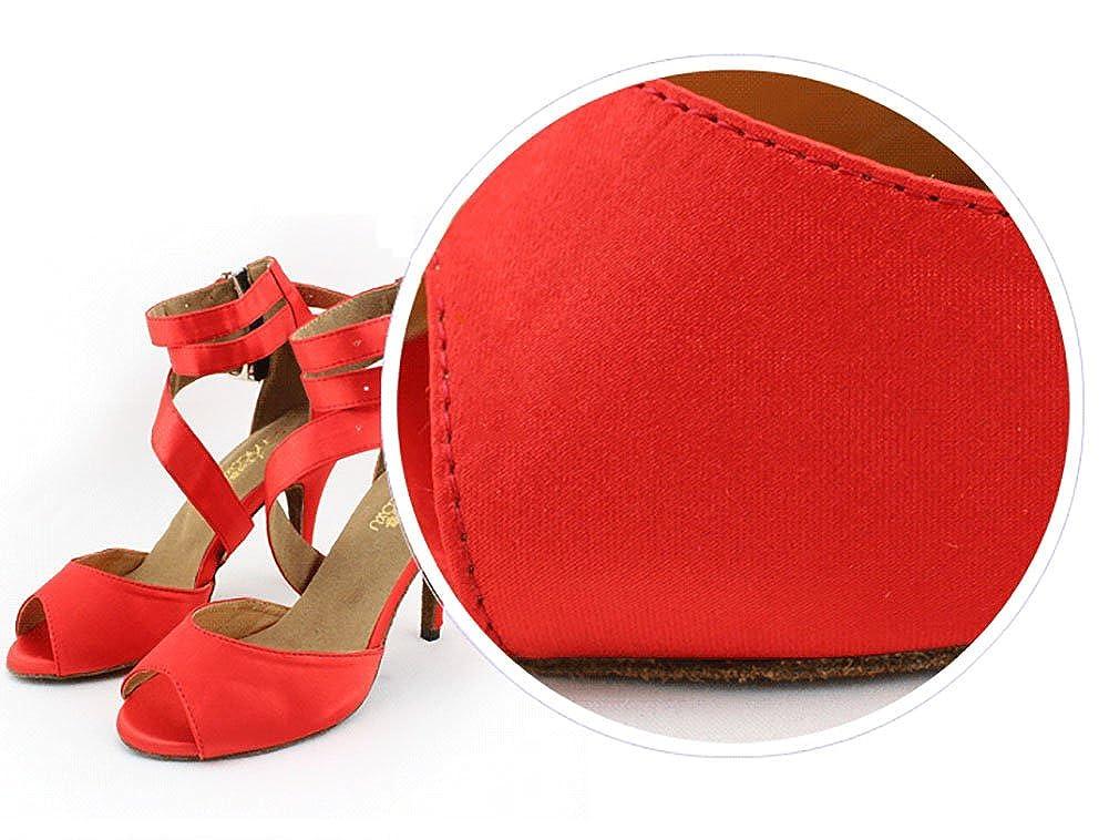 WYMNAME damen Latin Latin Latin Tanzschuhe Leise Unten High Heels Internationalen Standard Gesellschaftstanz Schuhe Sandale d01abb