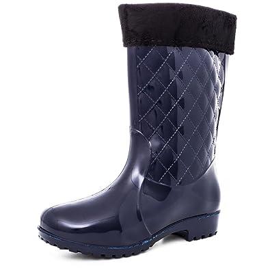 Regen Garten Gummistiefel Damen Stiefel Boots Schlupf Schuhe BsChQrtdxo