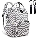 Hafmall Diaper Bag Backpack - Waterproof Multifunctional Large Travel Nappy Bag (Chevron)