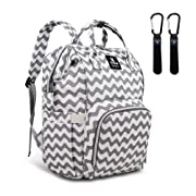 Hafmall Diaper Bag Backpack Waterproof Multi-Function Travel Bags, Large Capacity and Durable Backpack with Stroller Straps (Chevron)