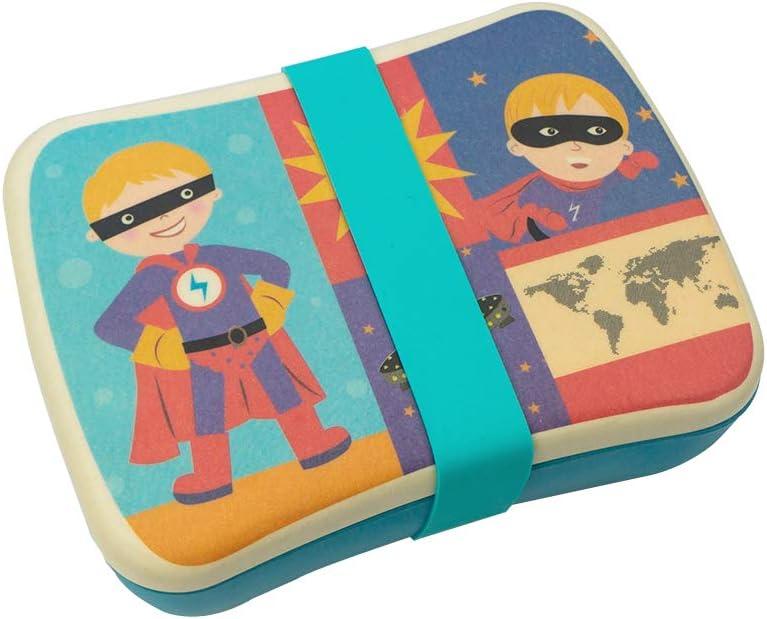Bio Fiambrera de Bambu Infantil ♻ Pack Taper y Sandwichera de Fibra de Bamb/ú Lonchera Eco Biodegradable y Ligero Reciclable Material Ecologico Apto para Lavavajillas Ideal ni/ños Sin BPA