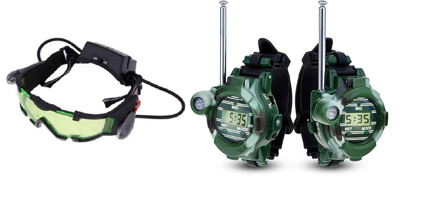 Kids Night Vision Goggles + Walkie Talkie Watches by Kids Night Vision Goggles