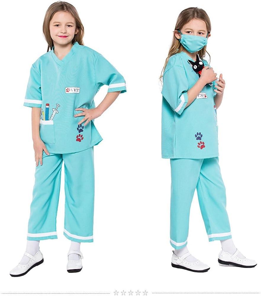 LOLANTA Ni/ño Unisex Doctor Disfraces Veterinario Juego de Roles Disfraces de Halloween adjuntar Juguetes m/édicos