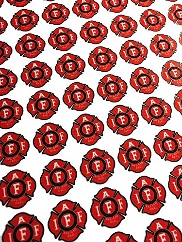 Empire Tactical USA 77 Mini 0.75 Classic Red IAFF Union Thick Vinyl - American Made Sticker Sheets - Decal