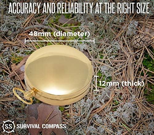 /m/ás alta calidad Supervive /de concha de cobre impermeable br/újula/ tebery br/újula/ /brilla en la oscuridad/ /br/újula militar Camping supervivencia br/újula/