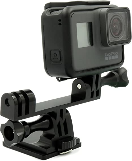 Ixium Xf16104 Aluminium Dual Head Bracket Adapter Mount For Gopro Action Cam Hero 3 4 5 6 Sport Freizeit