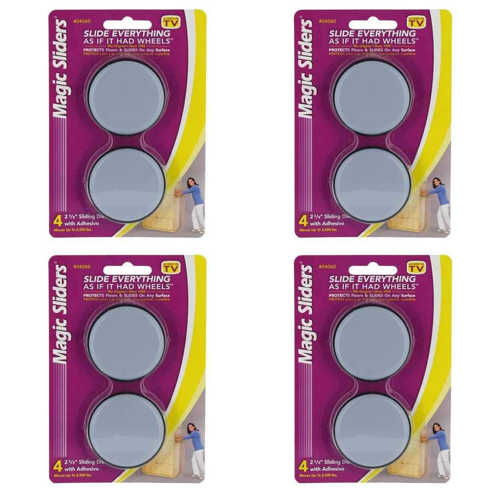 2-3/8'' Round Magic Sliders - Furniture Pads - Pack of 4
